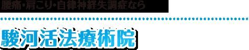 【静岡市の整体マッサージ】駿河活法療術院:ホーム